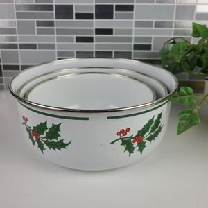 Vintage enamel nesting bowls